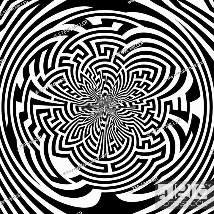 Stock Photo: art work and illustration - maze with ending point.