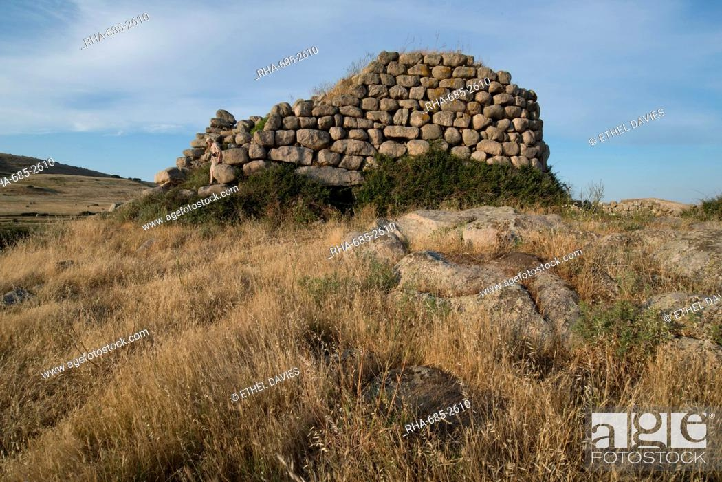 Stock Photo: Nuraghe Izzana, one of the largest Nuraghic ruins in the province of Gallura, dating from 1600 BC, Sardinia, Italy, Europe.