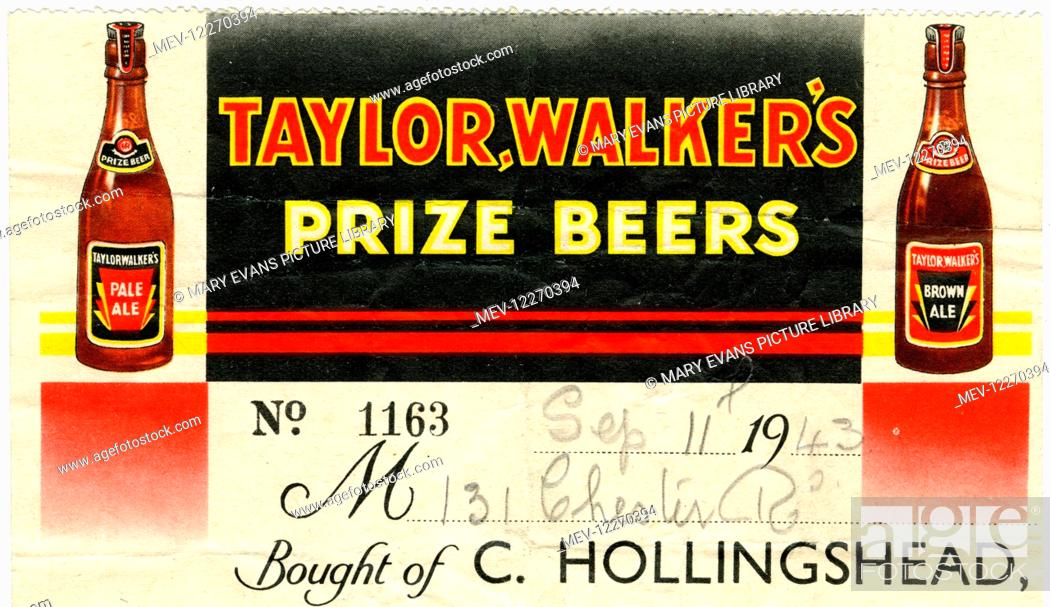 Stationery Taylor Walker S Prize Beers Stock Photo Picture And Rights Managed Image Pic Mev 12270394 Agefotostock