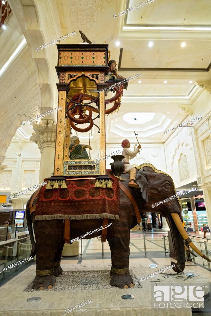 Elephant statue at India Court at Ibn Battuta shopping mall