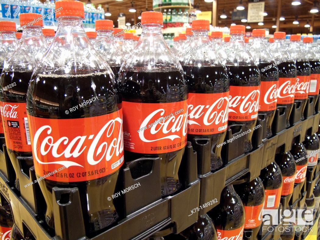Stock Photo: Display of Coca Cola.