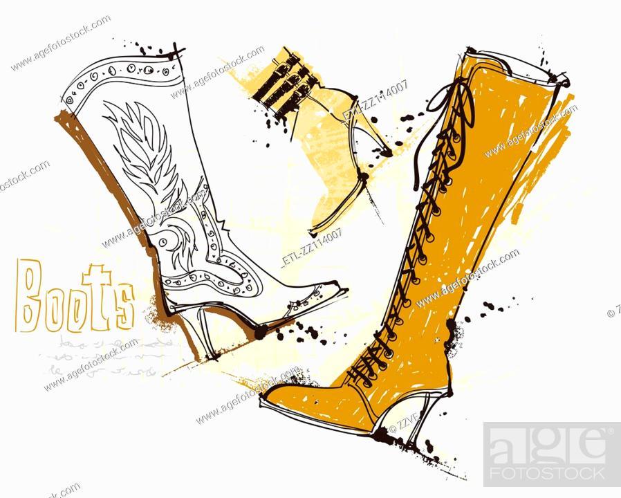 Stock Photo: Feminine Shoes.