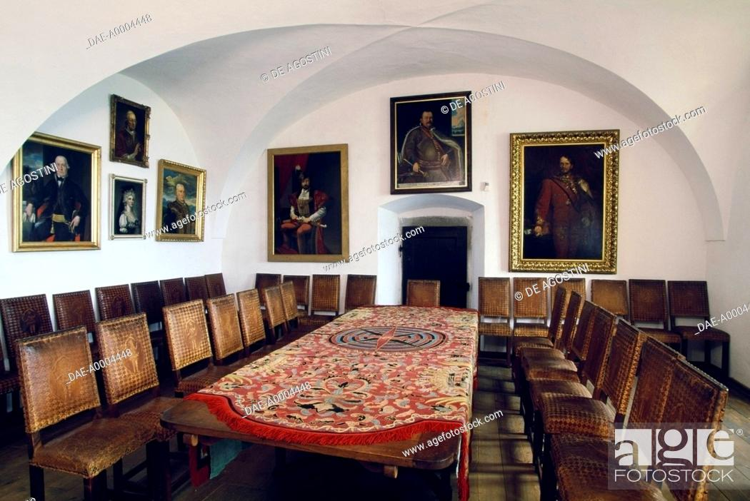 Stock Photo Room With Furniture And Paintings Krasna Horka Castle Krasnohorske Podhra