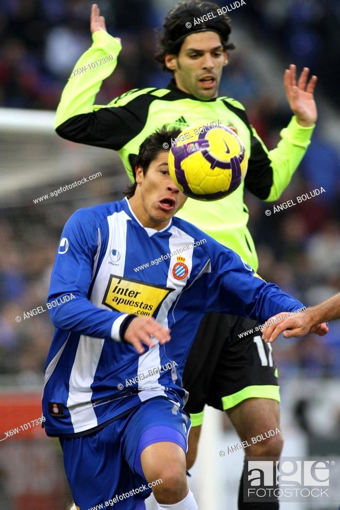Stock Photo: Cornellá-El Prat Stadium, 10/01/2009, Spanish League, RCD Espanyol vs. Real Zaragoza.