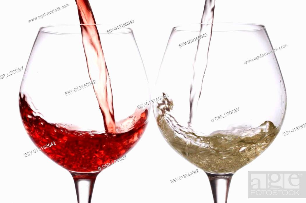 Stock Photo: pouring wine.