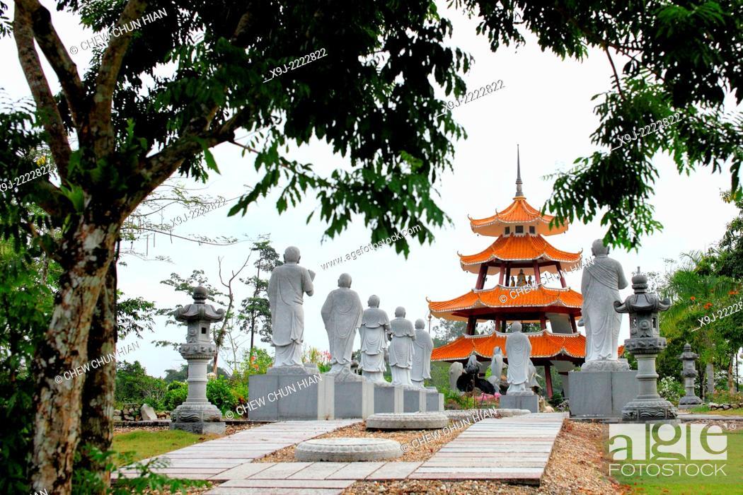 Stock Photo: Scenery of KBS Buddhist Village, kuching, sarawak, Malaysia, borneo.