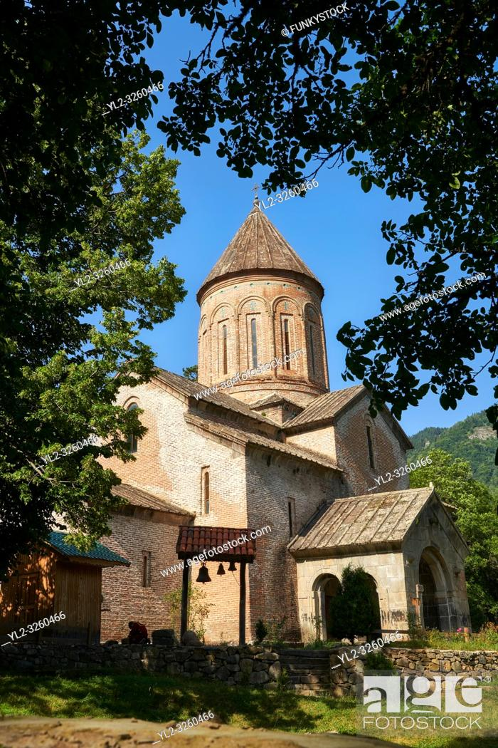 Stock Photo: Pictures & imagse of Timotesubani medieval Orthodox monastery Church of the Holy Dormition (Assumption), dedcated to the Virgin Mary, 1184-1213.