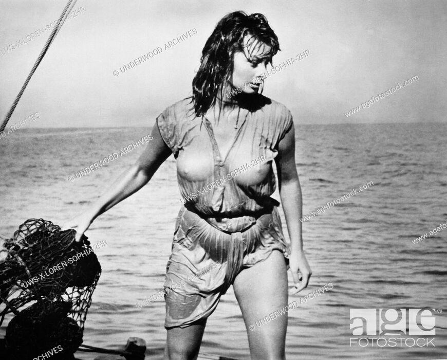 Greece 1957movie Star Sophia Loren In A Scene From The Film Boy On