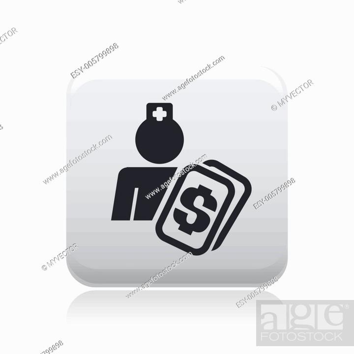 Stock Vector: Vector illustration of single medical cost icon.