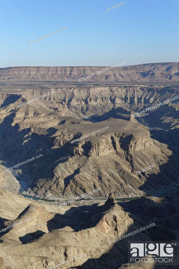 Stock Photo: Fish River Canyon, view from the main lookout point, close to Hobas, Ai-Ais Richtersveld Transfrontier Park, Karas Region, Namibia, Africa.