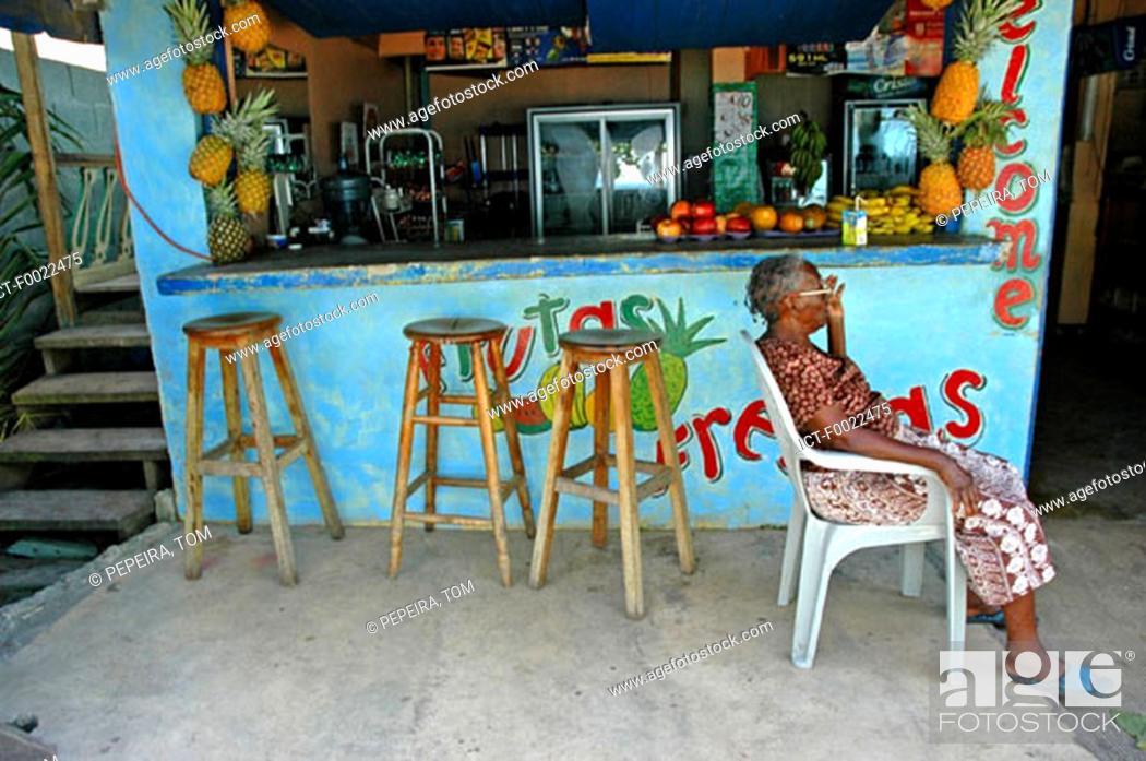 Stock Photo: Costa Rica, Caribbean coast, Puerto Viejo, local cafe.
