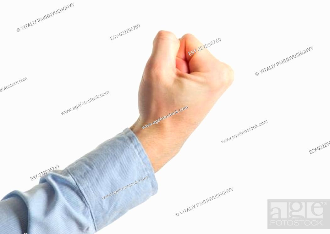 Stock Photo: clenched fist.