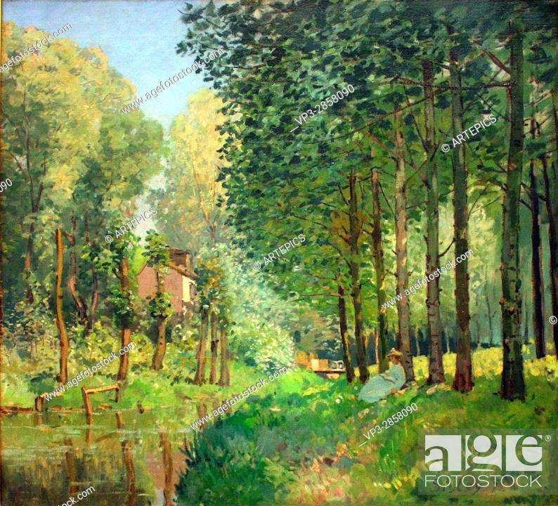 Imagen: Alfred Sisley - The rest by the brook. Edge of the forest - 1878 - Orsay Museum - Paris.