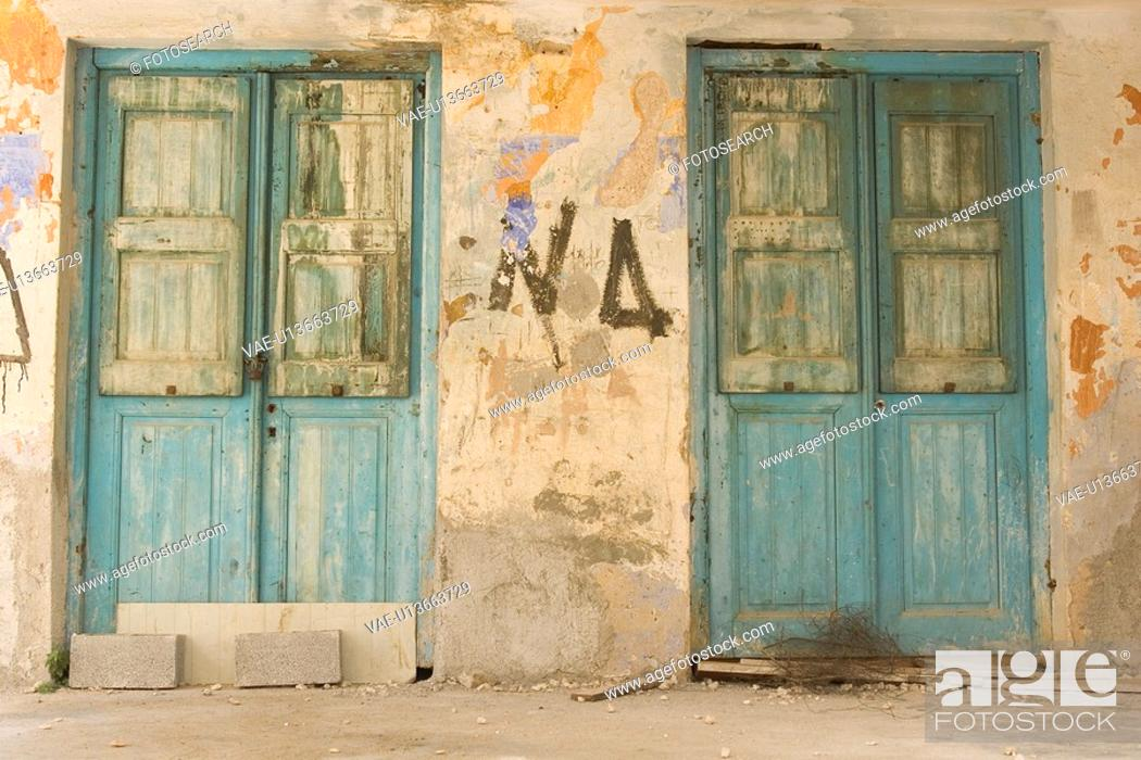 Stock Photo: Broken, Close-Up, Building Structure, Building Exterior, Abandoned.