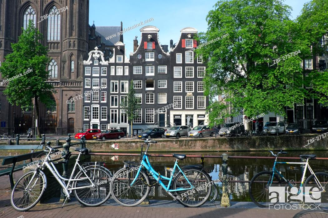 Stock Photo: Streets of Amsterdam, the Netherlands.