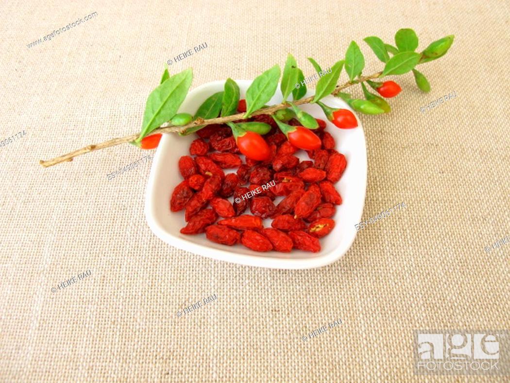Stock Photo: Dried goji berries, wolfberry.