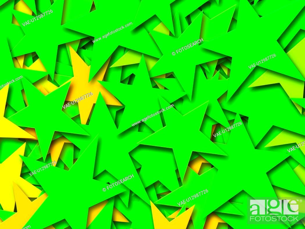 Stock Photo: Green Stars.
