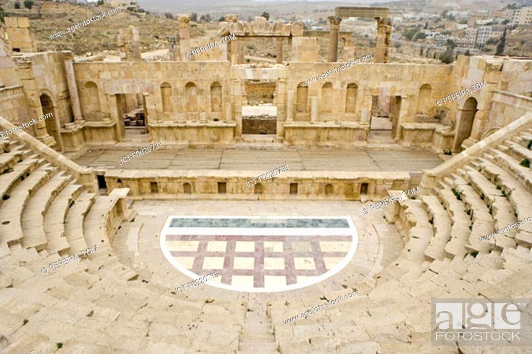 Stock Photo: Jordan, Jerash, Roman theater.