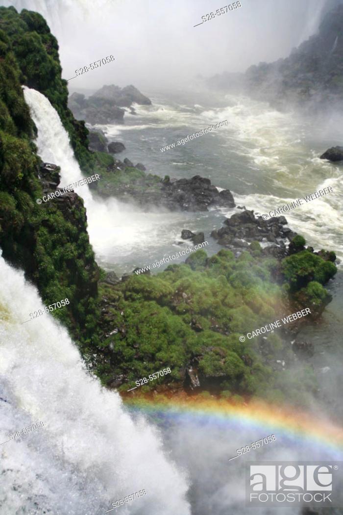 Stock Photo: Iguazu Falls, Brazil.