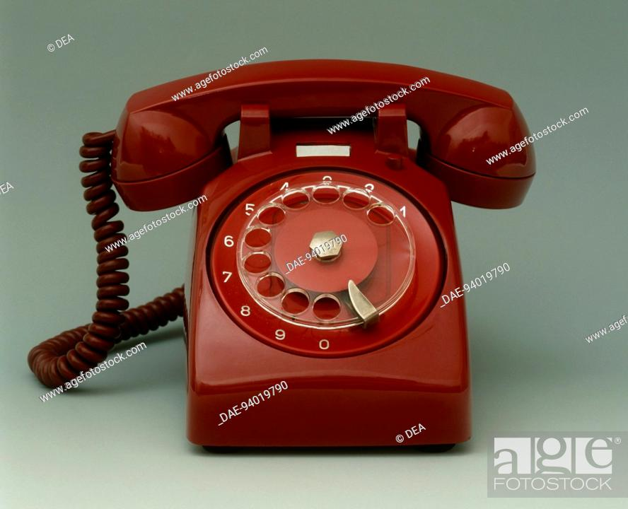 Stock Photo: Italy, 20th century - Face Standard New Style telephone, early 60's.  Private Collection.