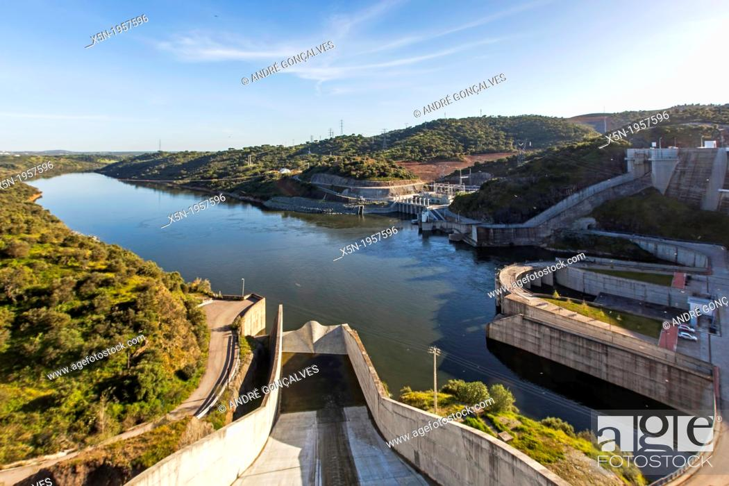 Stock Photo: Alqueva Dam, Alentejo, Portugal, Europe.