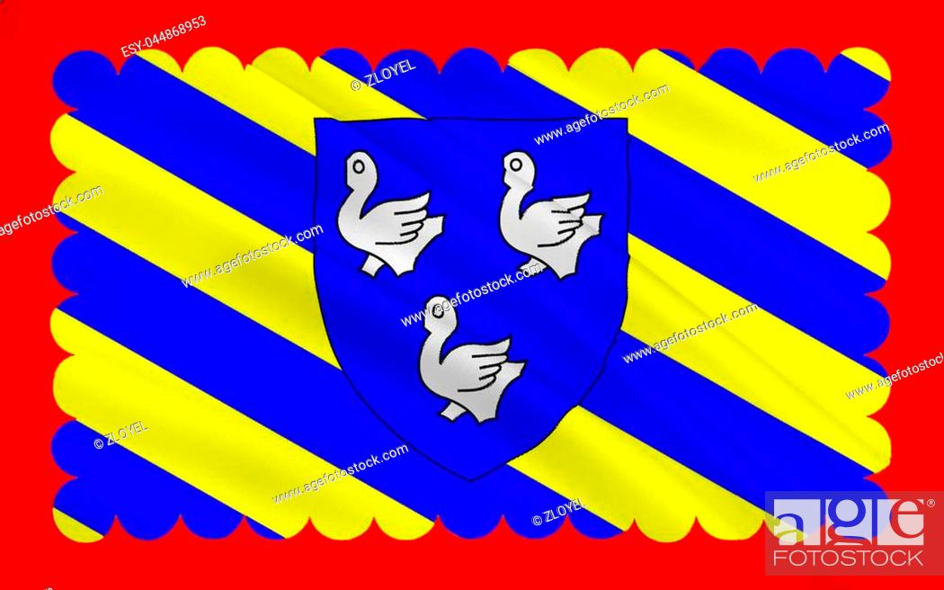 Stock Photo: Flag of Cosne-Cours-sur-Loire is a commune in the Nièvre department in central France.