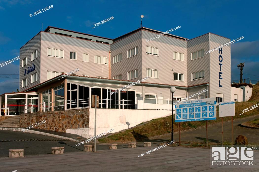 Stock Photo: Hotel A Roda (next to the Playa del Rio), Meiras - Valdovino, La Coruna province, Region of Galicia, Spain, Europe.