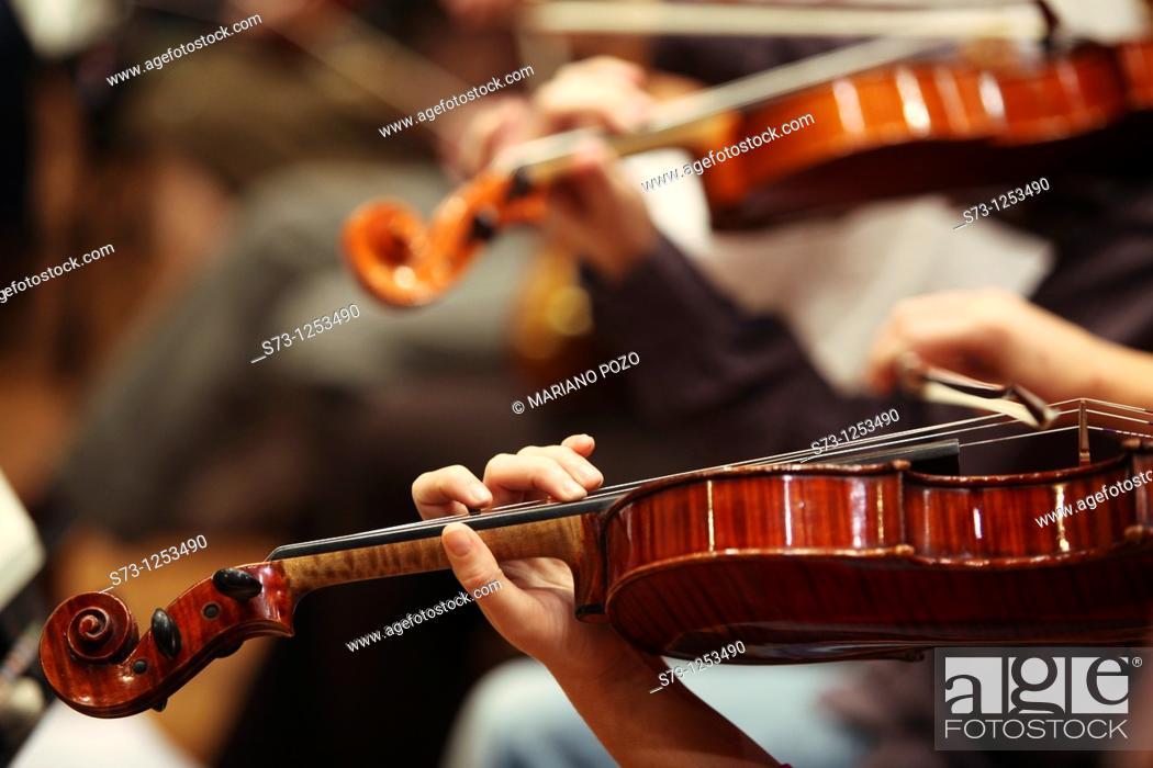 Stock Photo: Violinist.