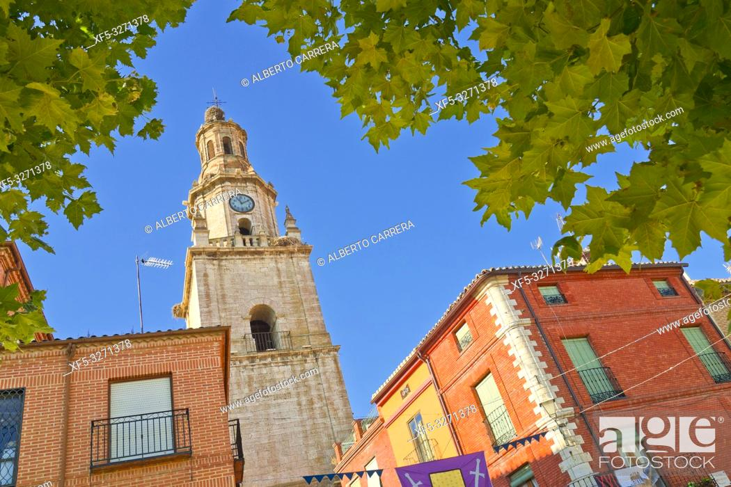 Stock Photo: Torre del Reloj, 17th Century Clock Tower, Puerta del Mercado, Old Town, Toro, Zamora, Castilla y León, Spain, Europe.