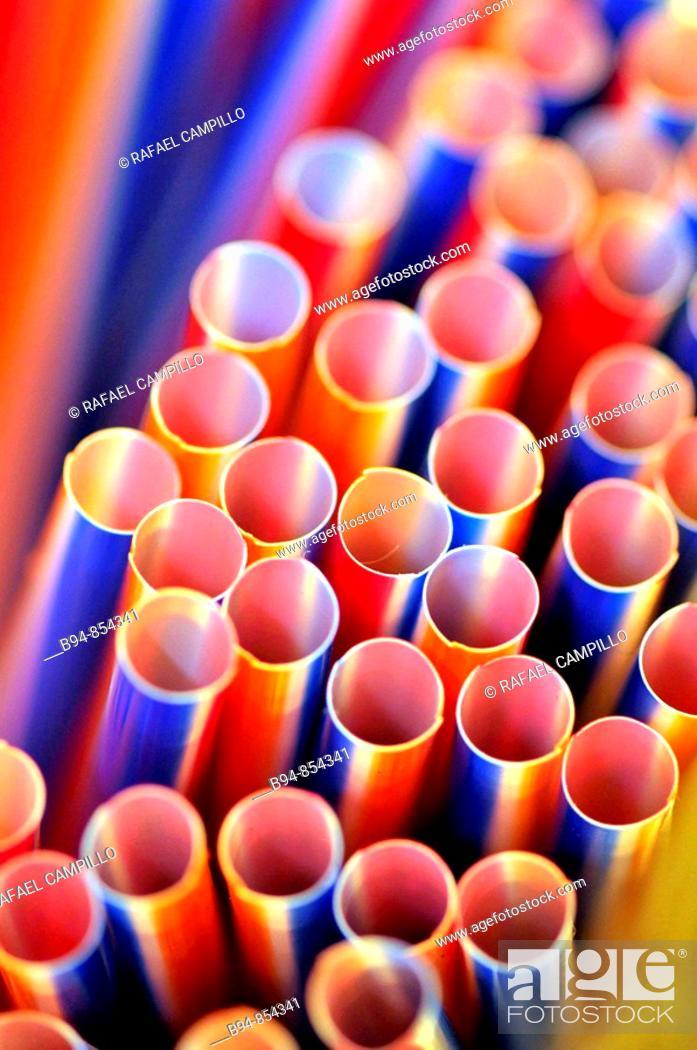 Stock Photo: Straws at La Boqueria market, Barcelona. Catalonia, Spain.