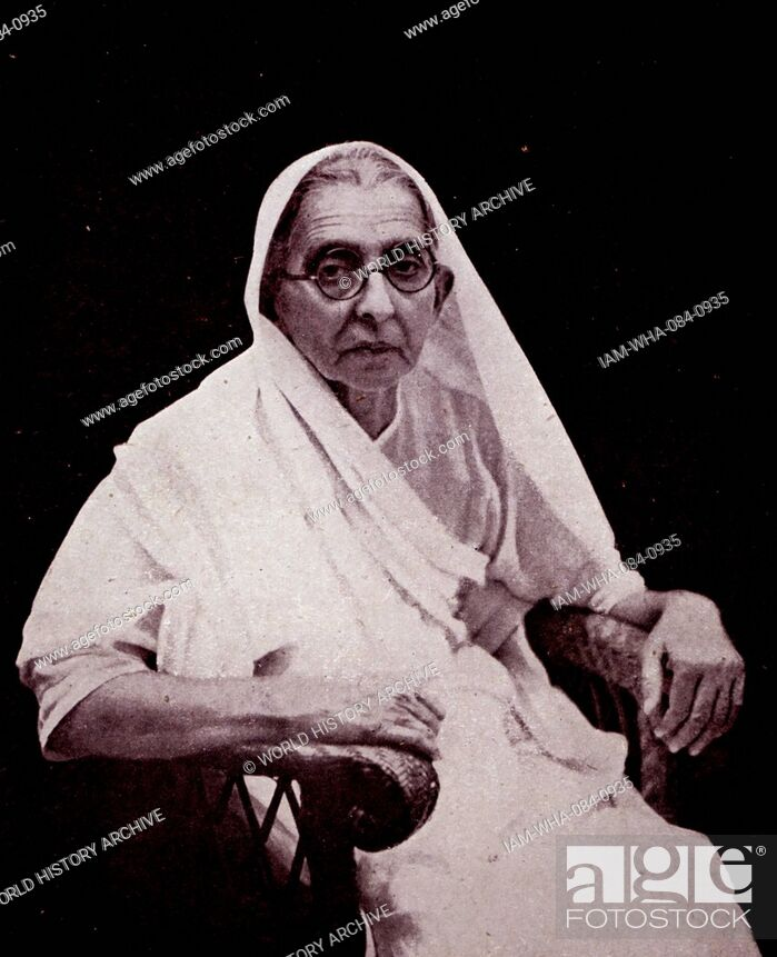 Stock Photo: Photograph of Swaroop Rani Thussu (1868-1938) wife of Motilal Nehru (1861-1931) and mother of Jawaharlal Nehru (1869-1948). Dated 20th Century.