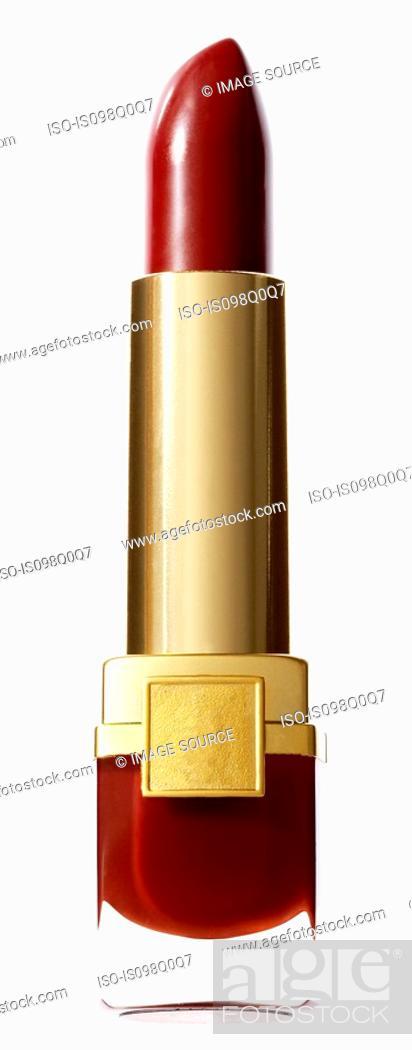 Stock Photo: Red lipstick.