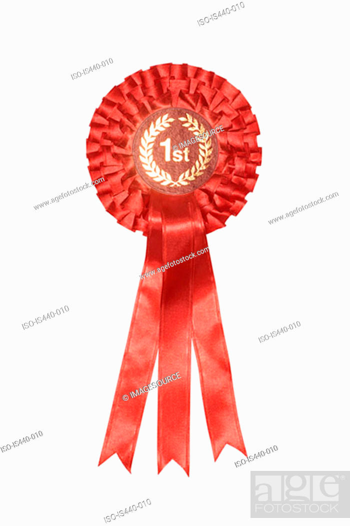Stock Photo: First place rosette.