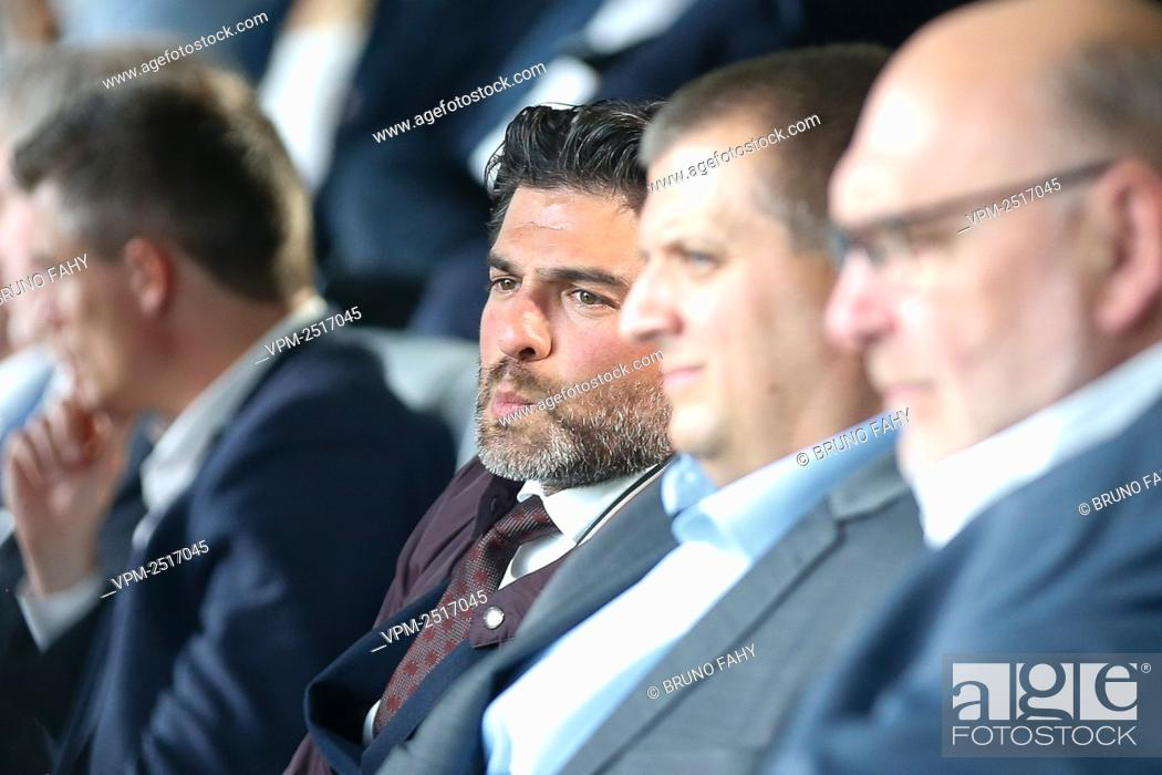 Stock Photo: KBVB-URBSFA chairman Mehdi Bayat pictured during a press conference to present the 'home of Football' and the 2020-2021 season calendar by the Jupiler Pro.