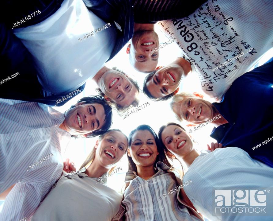 Stock Photo: Group of students in circle.