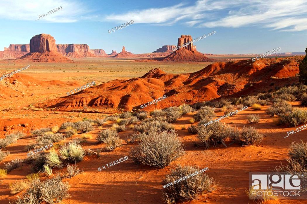 Stock Photo: View over Monument Valley, Utah, USA.