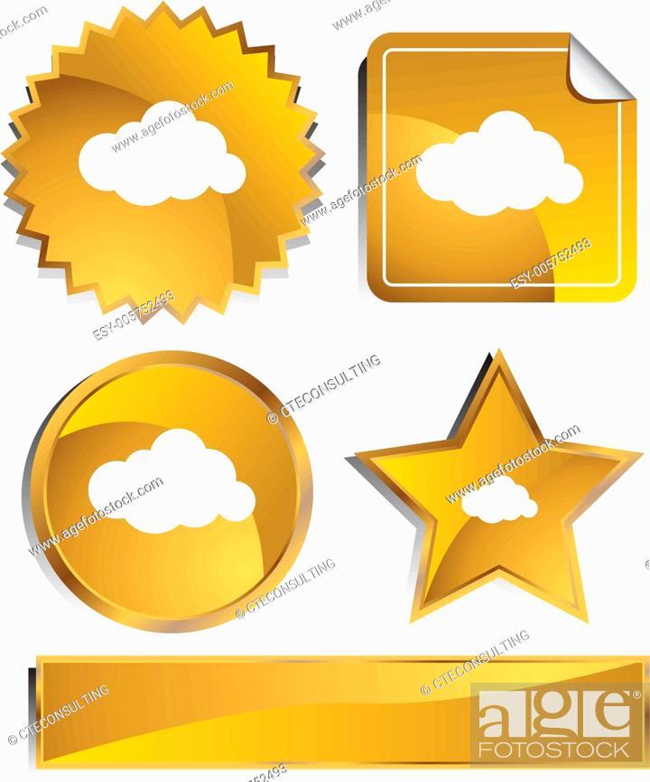 Stock Vector: Cloud Icon.