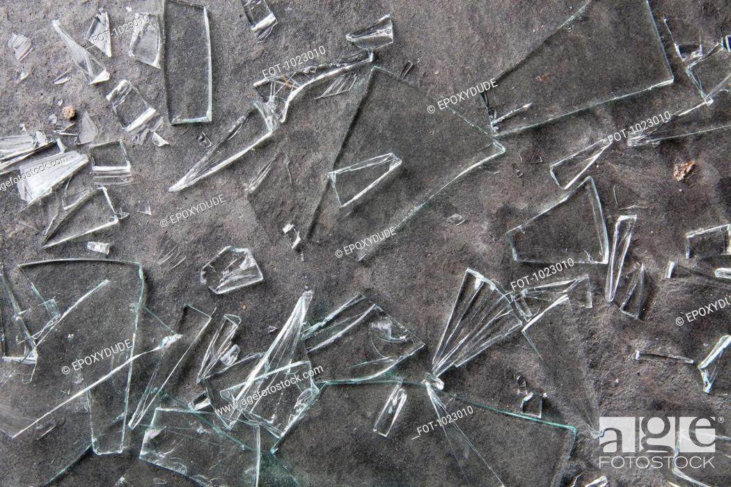 Stock Photo: Broken glass shards.