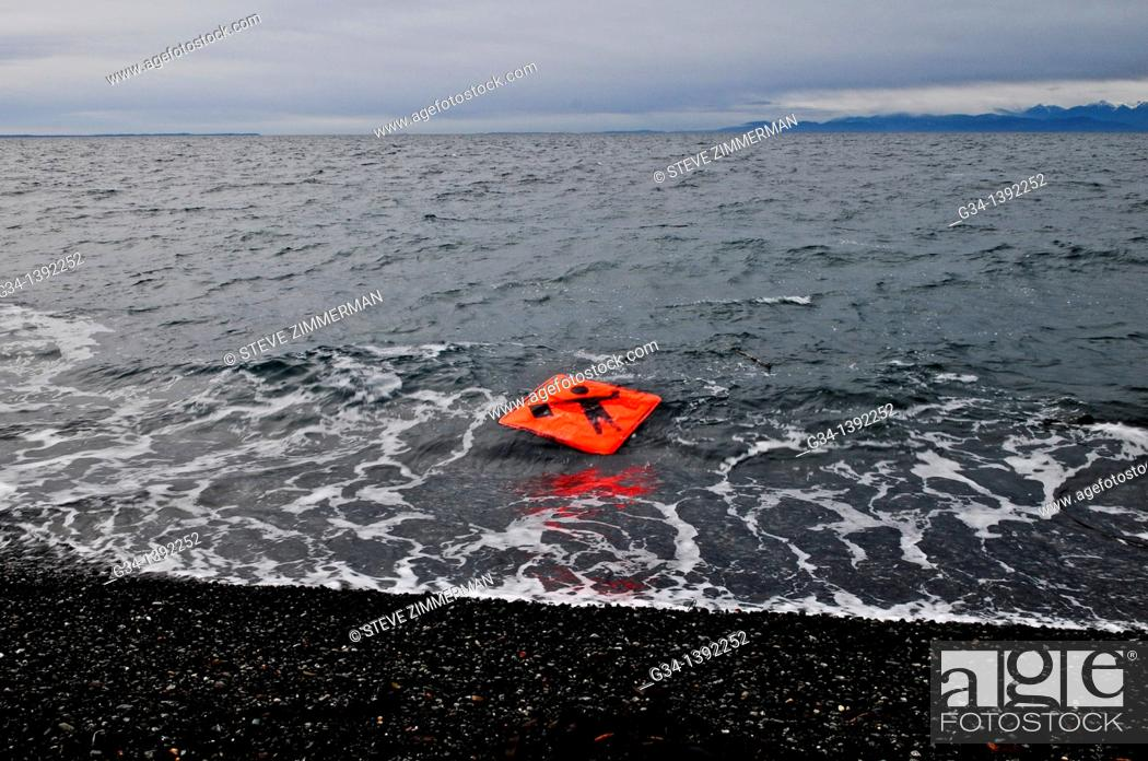 Stock Photo: Flagger Sign on Tide.
