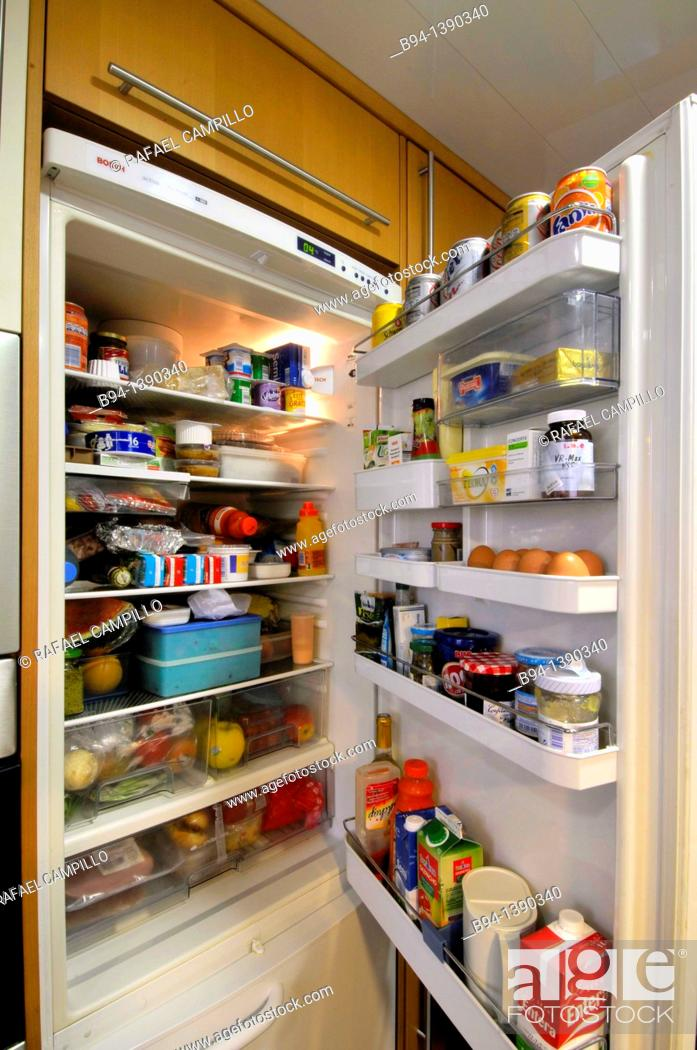Stock Photo: Refrigerator.