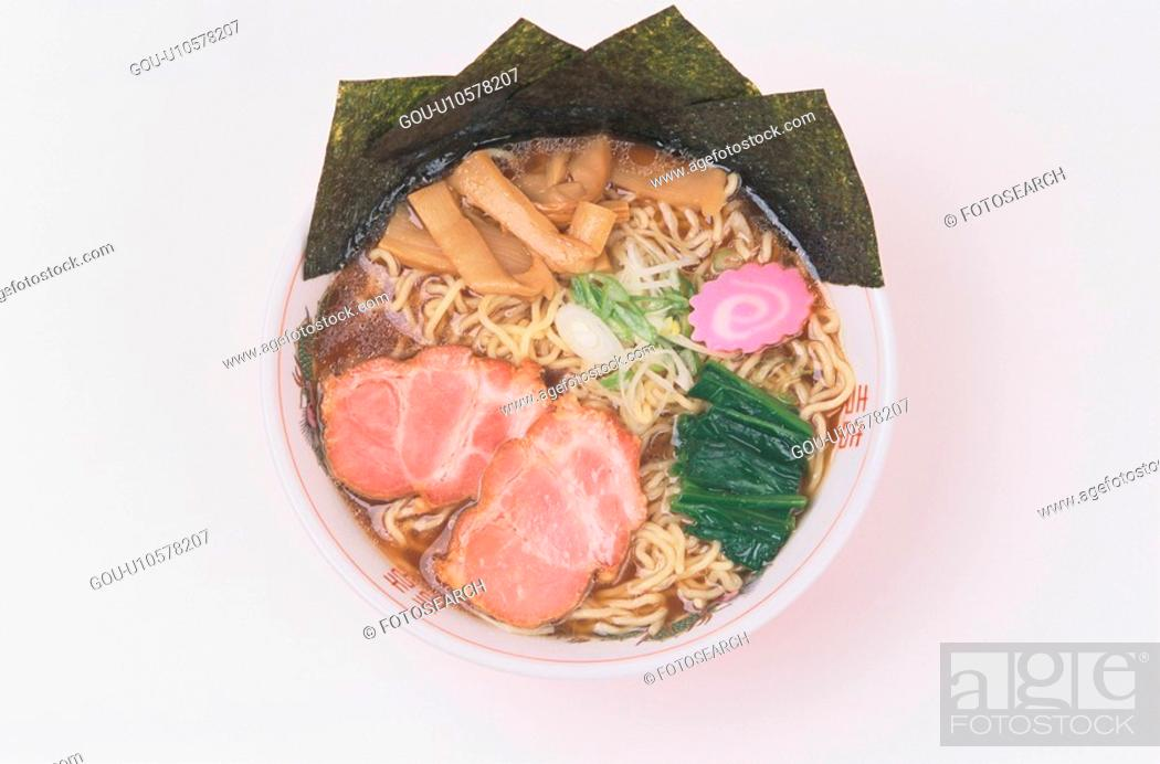 Stock Photo: Chinese Noodle Dish With Meat.