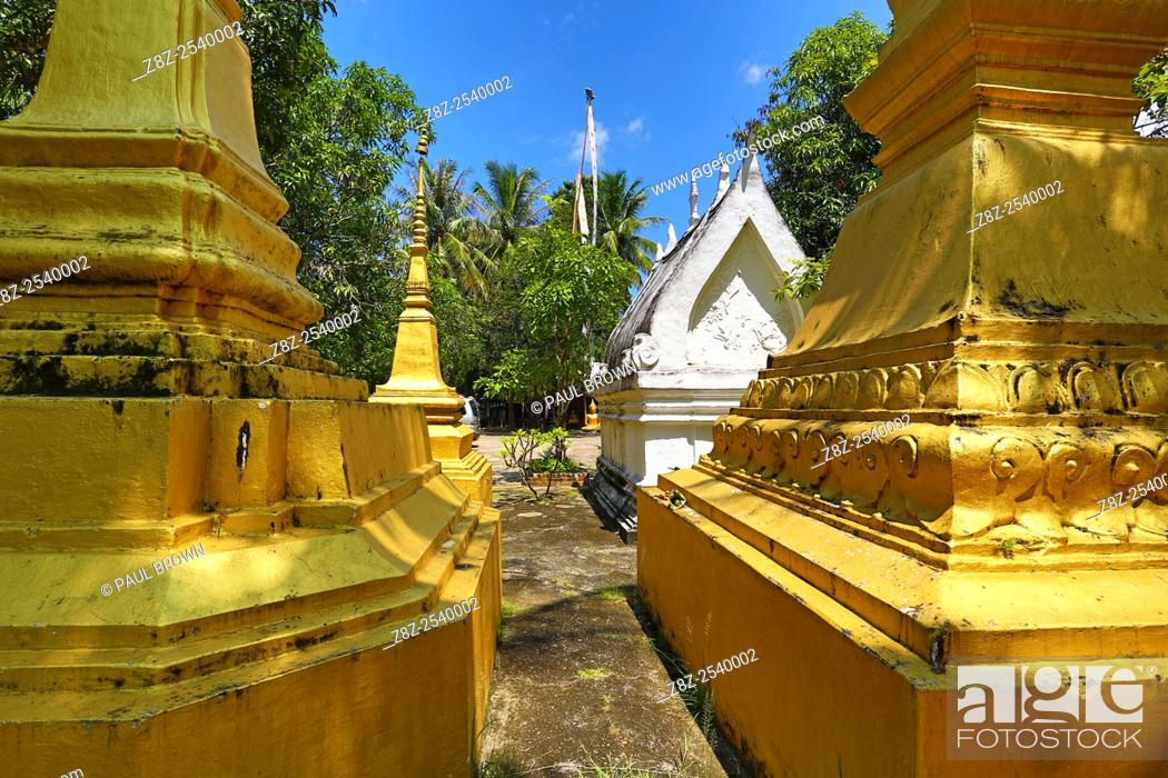 Stock Photo: Wat Choum Khong Temple, Luang Prabang, Laos.