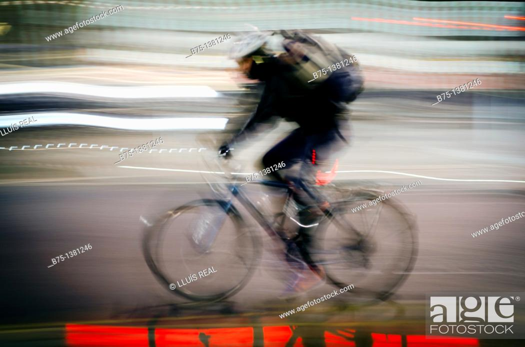 Stock Photo: Cyclist.