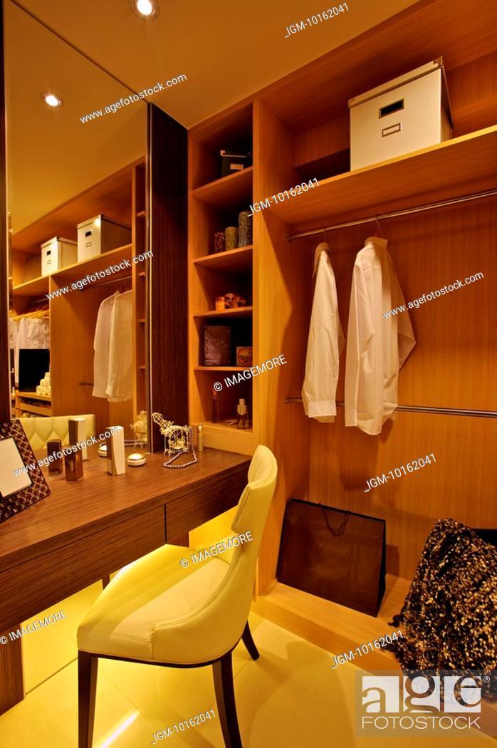Stock Photo: Modern Interior Design - Closet & Dressing Table.