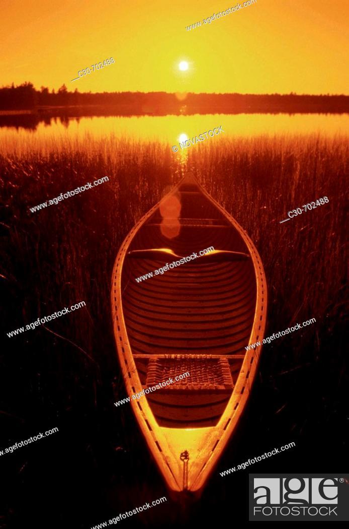 Stock Photo: Canoe.