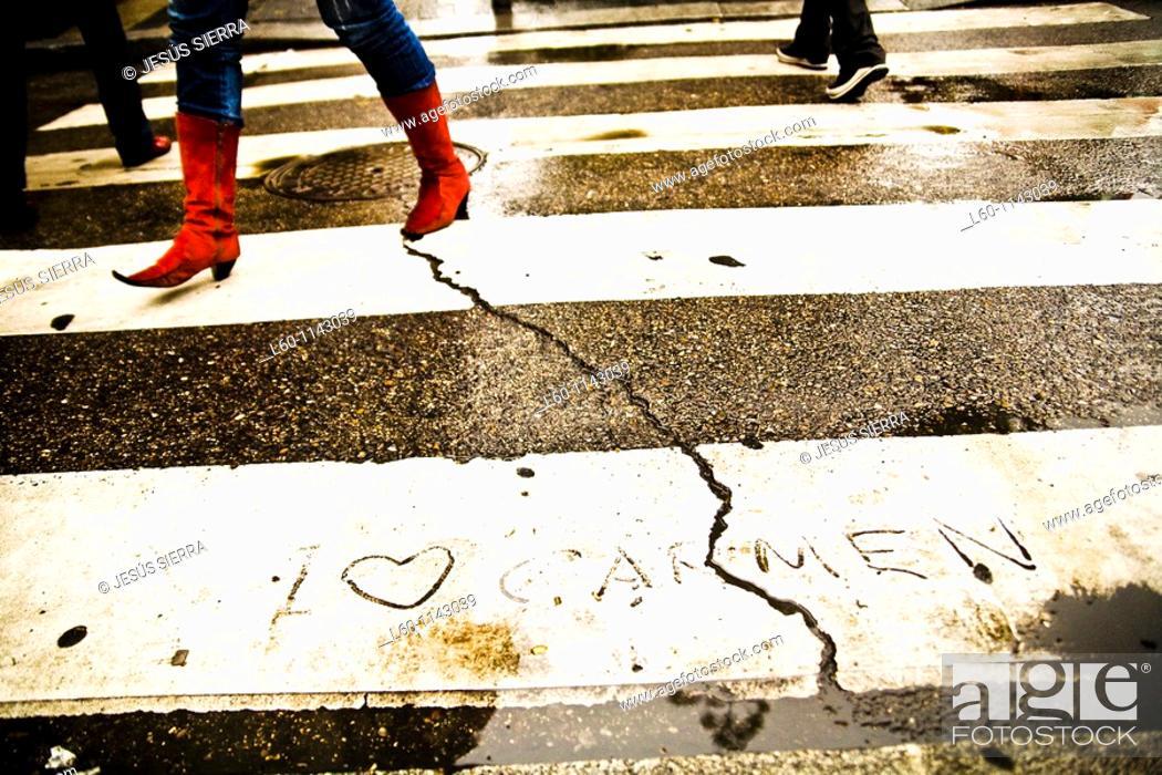 Stock Photo: Love in Madrid Spain.