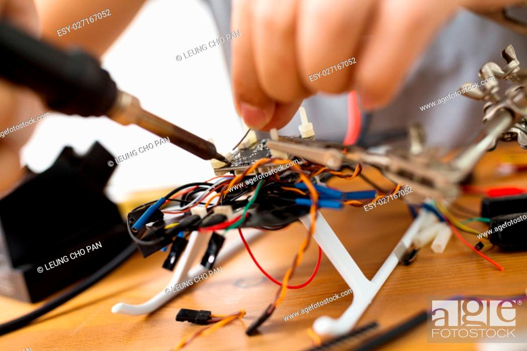 Stock Photo: Installation of drone.