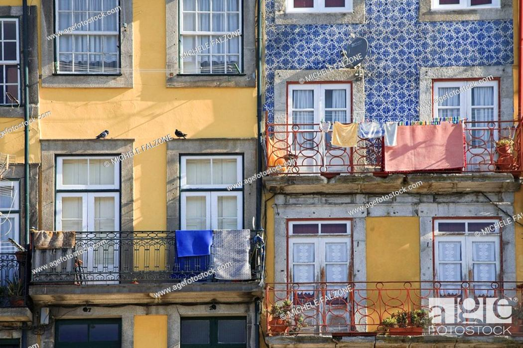 Stock Photo: Ribeira District, Porto Old Town UNESCO World Heritage, Portugal.