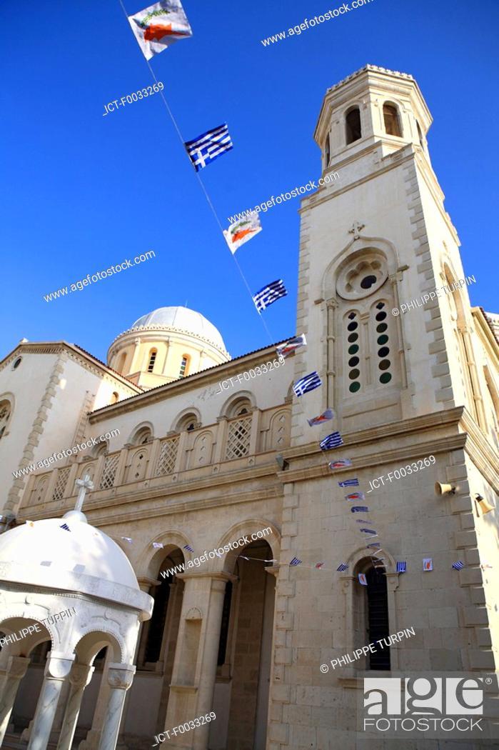 Stock Photo: Cyprus, Limassol, Agia Napa cathedral.