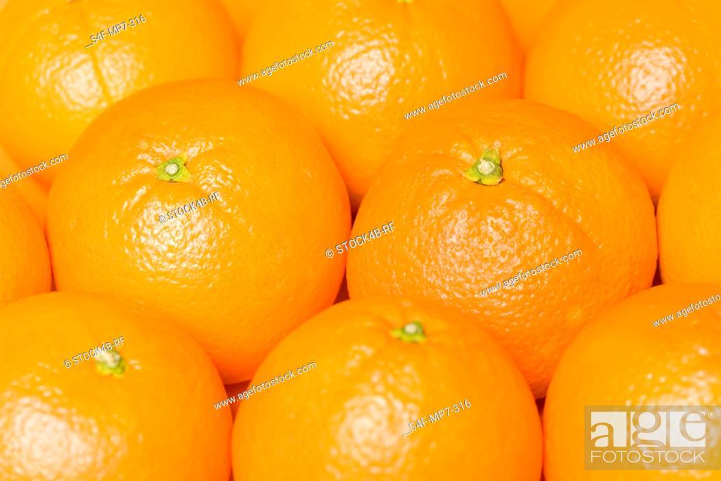 Stock Photo: Detail of oranges.